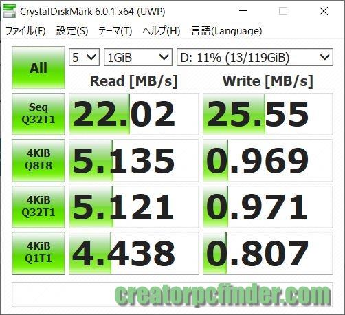 SDカードリーダーの読み込み速度・書き込み速度