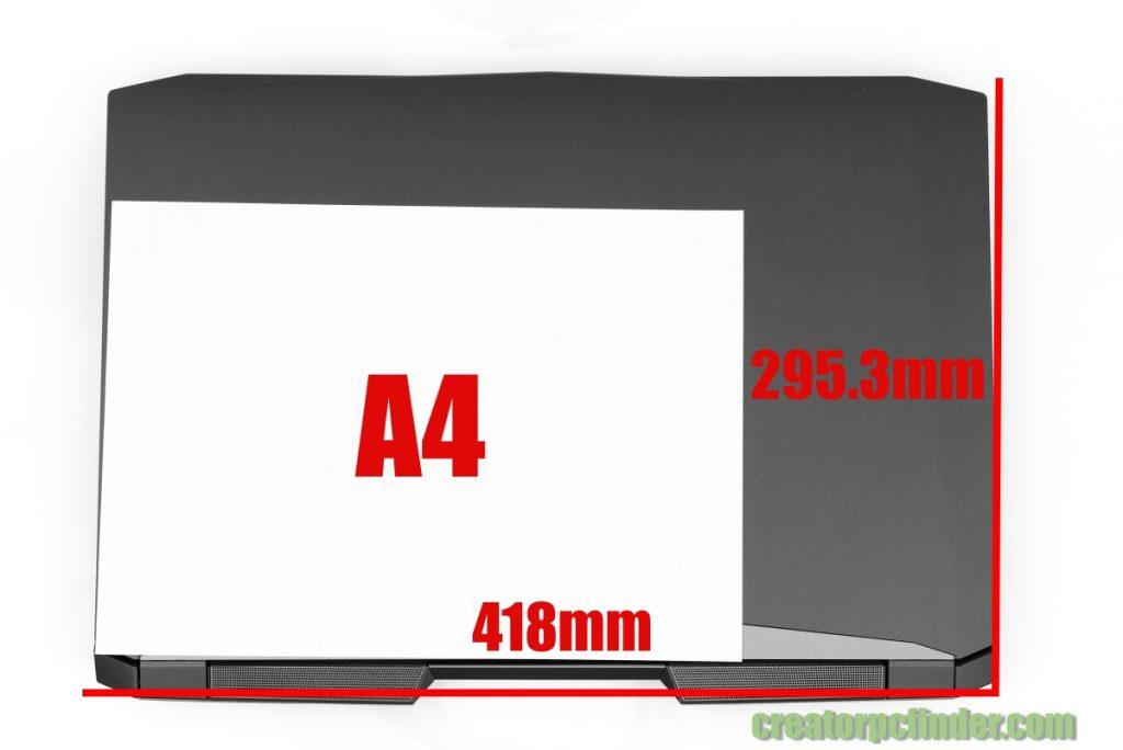 マウスコンピューター DAIV-NG7700 大きさ・サイズ