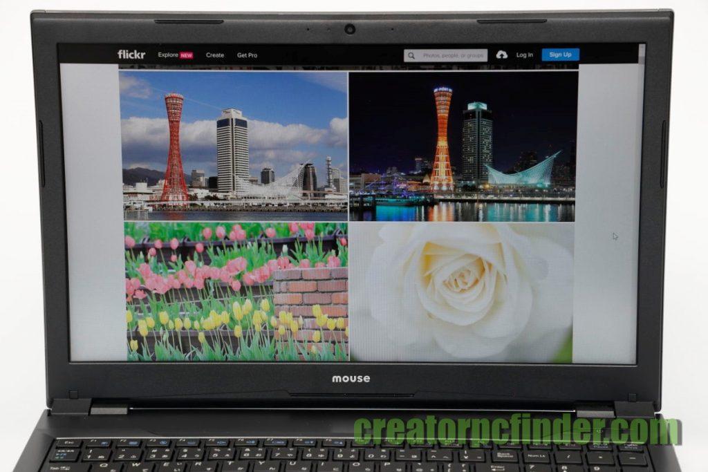 マウスコンピューター クリエイターノートPC DAIV 5D ディスプレイ