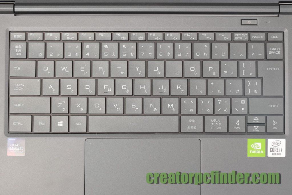 マウスコンピューター クリエイターノートPC DAIV 4N キーボード